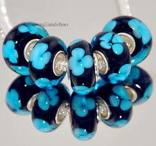 5pcs MURANO Lampwork charm Beads fit 925 silver European Bracelet Chain a58