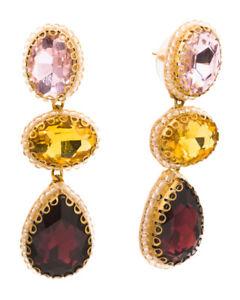DEEPA BY DEEPA GURNANI Handmade In India Crystal Drop Earrings