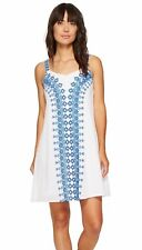 NWT MSRP $98 - TOMMY BAHAMA Greece's Pieces Short Dress, White / Blue, LARGE