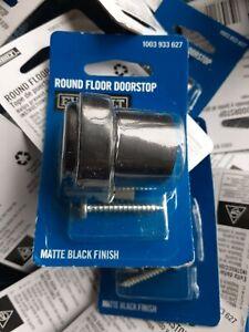 Everbilt Matte Black Round Floor Door Stop Made of steel, Doorstop