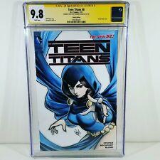 Teen Titans #8 Warren Louw Sketch CGC 9.8