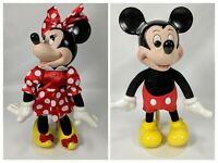 Disney Collectable Classics Woodsculpt Series By Applause Mickey & Minnie Mouse