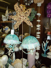 (1) hanging Woven Turquoise Jellyfish decor ornament new Festive