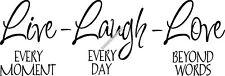 Live Laugh Love Interior Home Vinyl Decal F009