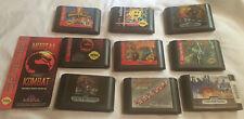 Sega Genesis Lot 9 Games Mortal Kombat Streets Rage 2 Soldiers of Fortune Pacman