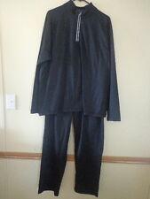 Men's Roundtree & Yorke Sport Fleece Pullover & Pant Set - L, XL -Black