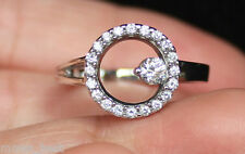 New Kay Jewelers S6.75 14K 3/8ct Diamond Circle of Love / Life Ring White Gold