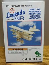 Legends of the air wooden aircraft Fokker Triplane # 401 model kit New in box