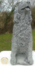 Spaniel Dog Stone Garden Ornament Hand Cast by Bekki 10 x 8 x 20 cms 1170 grams