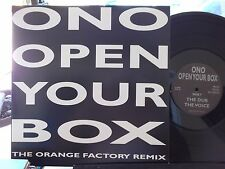 "12"" ONO OPEN YOUR BOX ON MIND TRAIN RECORDS THE CLUB/THE DUB W/ COVER"