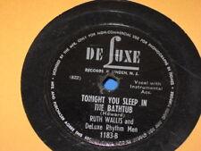 """RUTH WALLIS Tonight You Sleep in the Bathtub/ Dinghy Song 10"""" 78 De Luxe 1183"""