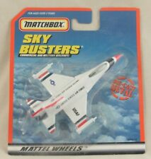Matchbox Sky Busters United States Air Force F16 Plane Die-Cast Sealed on Card