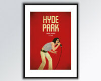 MICK JAGGER ROLLING STONES HYDE PARK 1969 A3 PRINT.