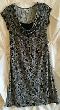 Motherhood Maternity Womens Summer Dress Size Small Black White Short Sleeve