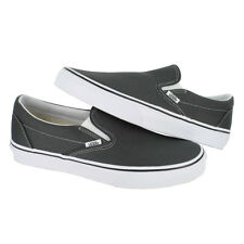 fab89932ab4f VANS Classic Slip-on Skate Shoes Charcoal Canvas Men 10.5
