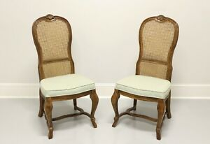 DREXEL HERITAGE French Provincial Style Oak Dining Side Chairs - Pair B
