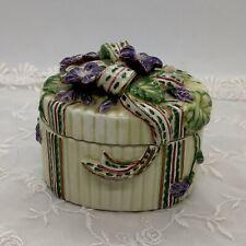 Fitz and Floyd Present Violet Trinket Box