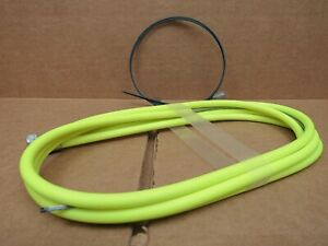 New-Old-Stock Casiraghi MTB Brake Cable/Housing Set - Neon Yellow