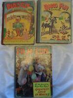 3 x Vintage Annual RADIO/FILM FUN 50s 1950 1951 1952 LAUREL & HARDY WORN