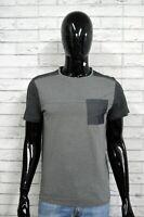 CALVIN KLEIN S Maglia Slim Fit Uomo Manica Corta Cotone Grigio Polo Shirt Man