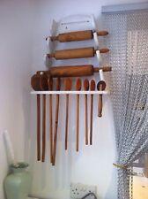 More details for  vintage handcrafted rack & wooden utensils inclusive/ 44cm w 47cm h 14 cm d.