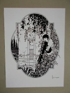 "Milo Manara ( Art Print ) "" Hommage a Louise Brooks "" , Signée"
