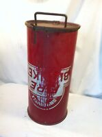 Vintage Gardwell Fire Blanket Canister Container Used No Blanket Trashcan
