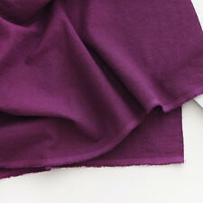 """100% Washed linen fabric Solid  by the Yard 60"""" Wide Purple cozy linen solid"""