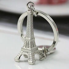 Creative Eiffel Tower Charm Metal Keyring Keychain Key Ring Chain Silver Gift