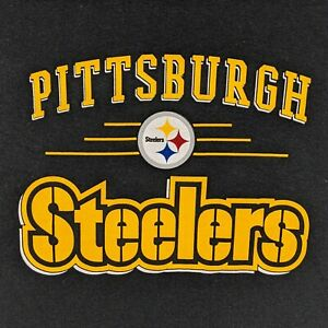 New Pittsburgh Steelers Adult Small T Shirt NFL Team Apparel Black