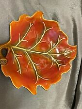 Decorative Fall Thanksgiving Small Leaf Platter Or Wall Decoration