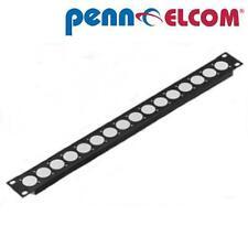 "1U Penn Elcom Rack Panel Punched for 16 x XLR or Speakon R1269/1UK/16 19"" strip"