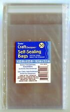 Crystal Clear Self-Sealing Bags 50ct. 4x6 Quilling-Scrapbook-Cardmaking-Storage