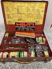 Hilti Stud Gun Piston Drive Tool Dx300 With Fastners In Red Metallic Box A X