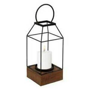 Foreside Home Lantern Pillar Candle Holder Small