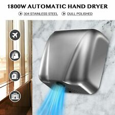 Electric Hand Dryer Machine with 1800W Auto Touchless Tech Stainless Steel