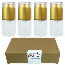 4PCS Pana 20ML Refillable Fine Mist Spray Frosted Glass Bottle with Gold Cap