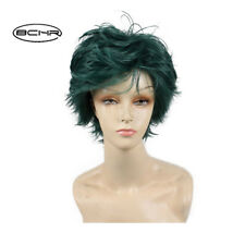 Anime My Hero Academia Izuku Midoriya Deku Short Mixed Green Cosplay Wig