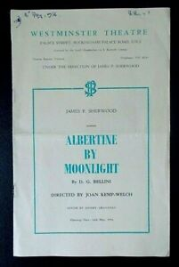 Albertine By Moonlight programme Westminster Theatre 1956 Hattie Jacques
