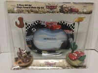 Disney Pixar Cars Picture Frame Frame Lightning Mcqueen Mater Clip Set New (A10)