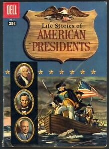 Life Stories Of American Presidents #1 - Buscema Art - Dell Giant (1957) VG+