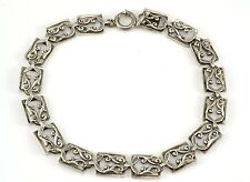 Vintage Dancraft Sterling Silver Link Bracelet