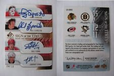 2008-09 SP Authentic Staal x2 Esposito x2 04/10 sign of the times 4 auto