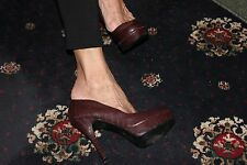 new look you feet look gorgeous sexy high heel shoes size 5 brown tortoise