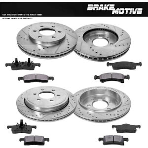 Front+Rear Brake Rotors And Metallic Pads For Ford Expedition Lincoln Navigator