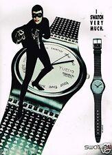 Publicité advertising 1990 La Montre Swatch