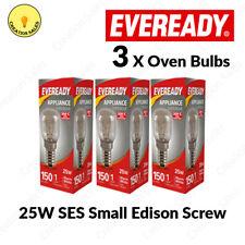3 X Oven Bulb 300°C Cooker Appliance Rated Lamp Light 25W 240V SES E14 Eveready