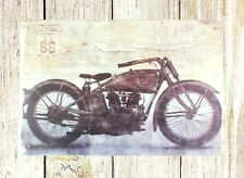 home decor & accessories route 66 biker motorcycle tin metal sign