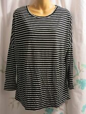 NWT TOPSHOP Maternity Top Long Sleeve Black White Stripe Slouch Shirt