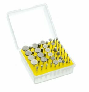 50pc Diamond Burr Drill Bit Set Engraving Carving Dremel Rotary Tool 150 Grit